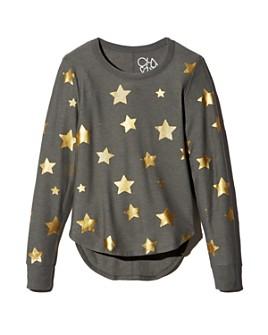 CHASER - Metallic Star Print Sweatshirt