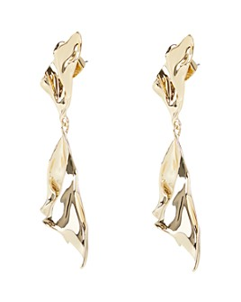 Alexis Bittar - Crumpled Metal Ruffle Drop Earrings