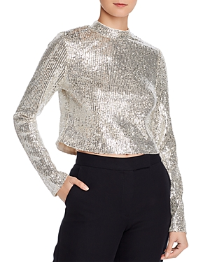 Endless Rose Tops SEQUINED CROPPED TOP - 100% EXCLUSIVE