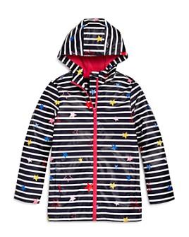 Joules - Girls' Star Print Striped Raincoat - Little Kid, Big Kid