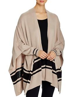 Elan - Striped Cardigan Poncho