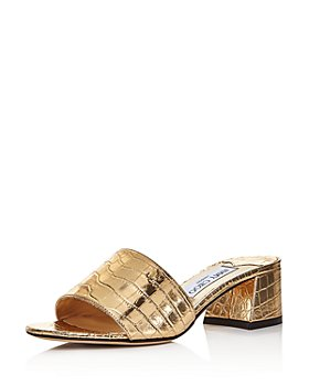 Jimmy Choo - Women's Minea 45 Croc-Embossed Mule Sandals