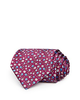 The Men's Store at Bloomingdale's - Scattered Floral Silk Classic Tie - 100% Exclusive