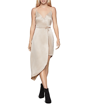 Bcbgeneration Dresses ASYMMETRIC SATIN SHEATH DRESS