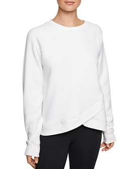 Betsey Johnson - Crossover Fleece Sweatshirt