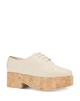 Salvatore Ferragamo - Women's Viviane Patent Leather Platform Loafers