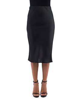 B Collection by Bobeau - Lyndon Bias-Cut Midi Skirt