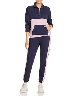 WILDFOX - Half-Zip Sweatshirt & Contrast-Trim Track Pants