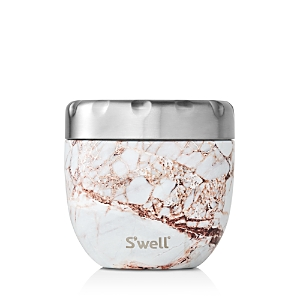 S'well Eats Small Calacatta Gold Marble Print Food Container 16 oz.