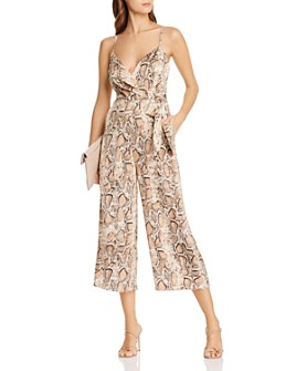 AQUA - Snake Print Wide-Leg Jumpsuit - 100% Exclusive