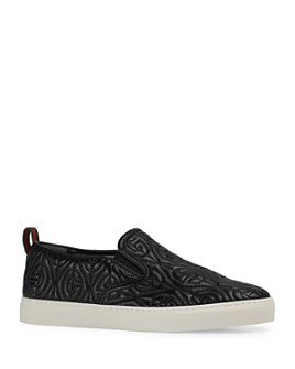 Gucci - Men's Dublin G Rhombus Slip-On Sneakers