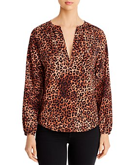 B Collection by Bobeau - Julius Leopard-Print Top