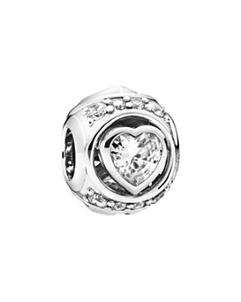 Pandora - Sterling Silver & Cubic Zirconia Elevated Heart Charm