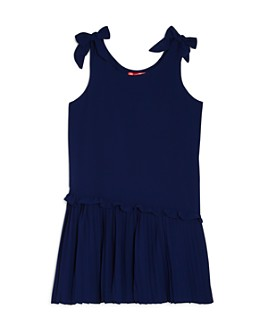 AQUA - Girls' Pleated Bow Dress, Big Kid - 100% Exclusive