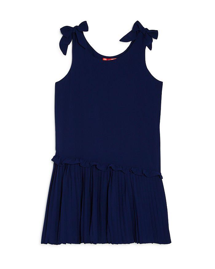 AQUA - Girls' Pleated Bow Dress, Big Kid - 100% Exclusive