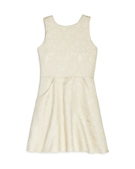 AQUA - Girls' Metallic Floral Dress, Big Kid - 100% Exclusive