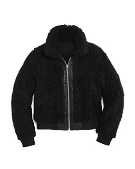 AQUA - Girls' Sherpa Bomber Jacket, Big Kid - 100% Exclusive