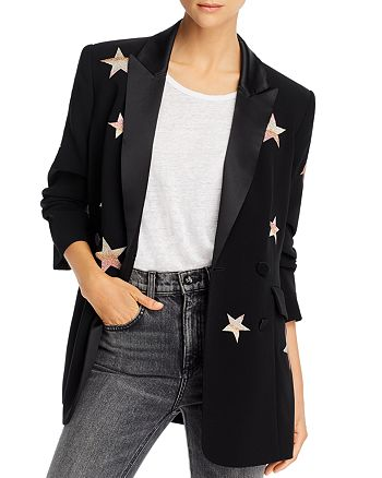 Cinq à Sept - Lila Embroidered Star Blazer