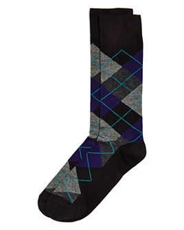 The Men's Store at Bloomingdale's - Striped Argyle Socks - 100% Exclusive