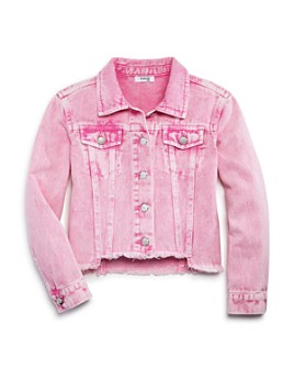 bebe - Girls' Raw-Hem Denim Jacket - Big Kid