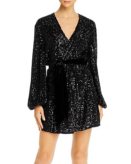 Jay Godfrey - Polly Sequined Mini Wrap Dress