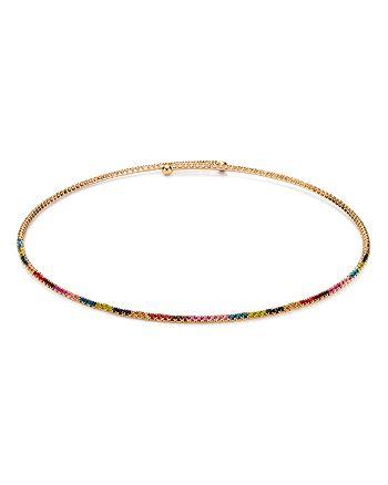 """AQUA - Multicolor Collar Necklace, 15"""" - 100% Exclusive"""