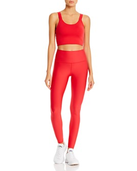Alo Yoga - Cropped Tank & High-Waist Tech Lift Airbrush Leggings