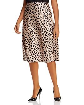 AQUA Curve - Midi Slip Skirt - 100% Exclusive