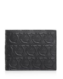 Salvatore Ferragamo - Gancini Embossed Leather Bi-Fold Wallet