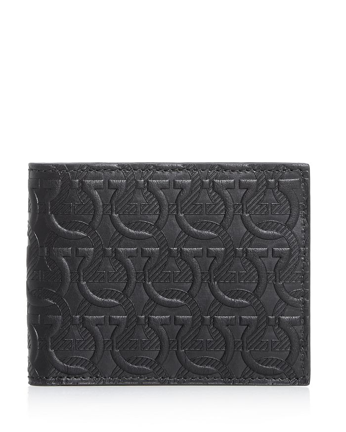 Salvatore Ferragamo - Gancini Embossed Leather Bi-Fold Wallet
