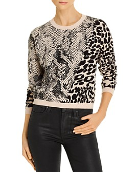 GUESS - Tamelia Animal-Pattern Sweater