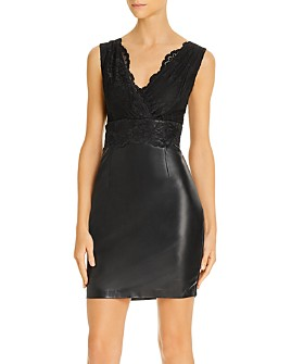 GUESS - Jemma Mixed Media Sheath Dress