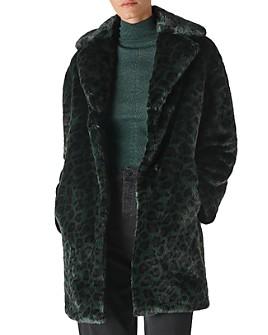 Whistles - Frankie Leopard-Printed Faux-Fur Coat