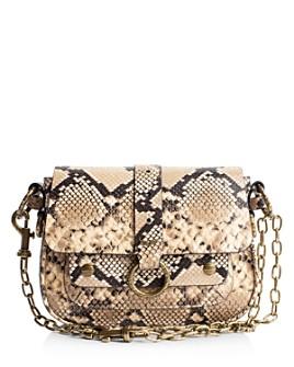 Zadig & Voltaire - Kate Studded Snake-Print Shoulder Bag