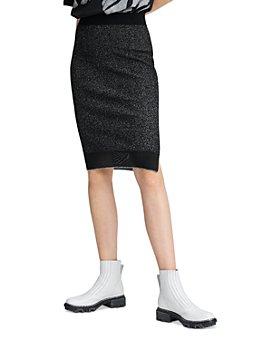 rag & bone - Rower Metallic Ribbed Skirt