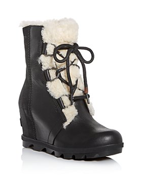 Sorel - Women's Joan of Arctic Wedge II Waterproof Shearling Hidden Wedge Boots