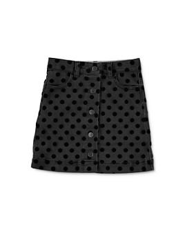 Stella McCartney - Girls' Flocked Polka Dot Print Denim Skirt - Little Kid, Big Kid