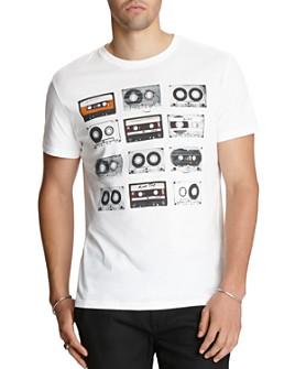 John Varvatos Star USA - Mixed-Tape Graphic Logo Tee