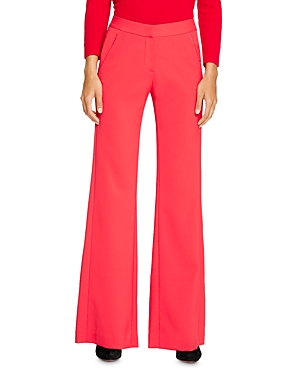 Halston Back-Pleat Wide-Leg Pants