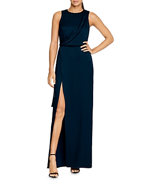 Halston Tops DRAPED SATIN GOWN