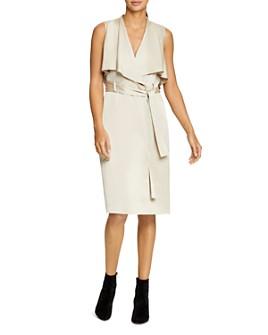 HALSTON - Satin Trench Dress