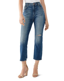 DL1961 - Jerry Vintage High-Rise Straight Jeans in Edmund