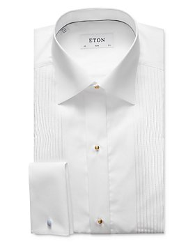 Eton - Lurex® Metallic Pleat Contemporary Fit Tuxedo Shirt