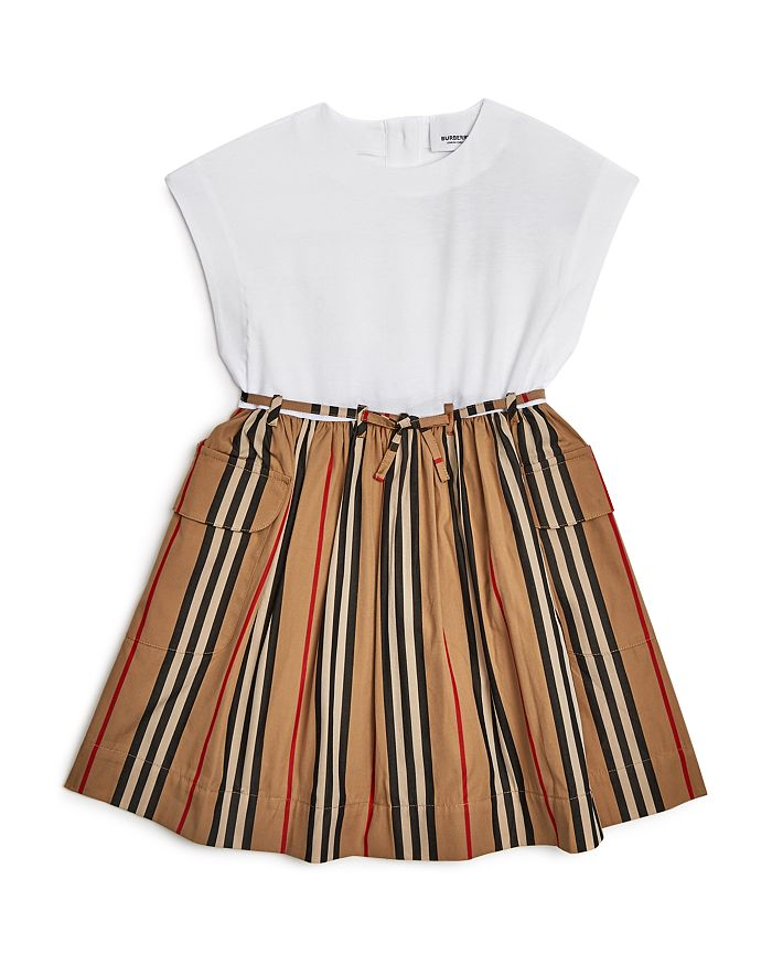 Burberry - Girls' Ramona Icon-Stripe Dress - Little Kid, Big Kid