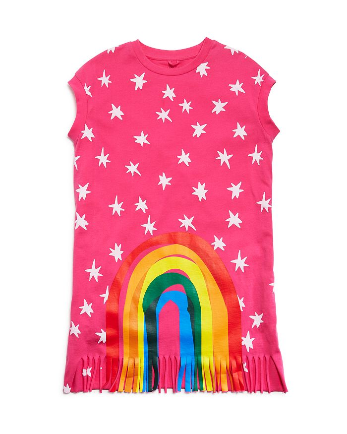 Stella McCartney - Girls' Fringed Rainbow Swim Cover-Up - Little Kid, Big Kid