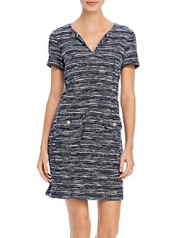KARL LAGERFELD PARIS - Knit Tweed Pocket Dress