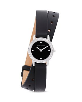 Rebecca Minkoff - Major Double-Wrap Leather Strap Watch, 22mm