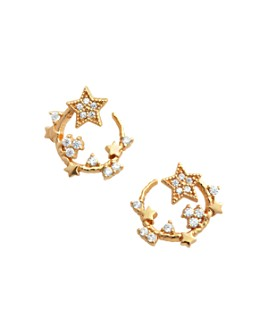 Olivia Burton - Celestial Swirl Hoop Earrings in Sterling Silver or Gold-Plated Sterling Silver