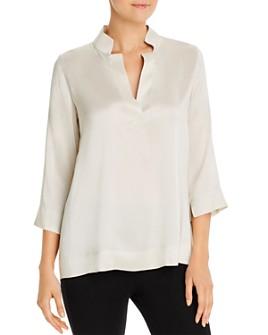 Eileen Fisher - Silk Stand-Collar Blouse