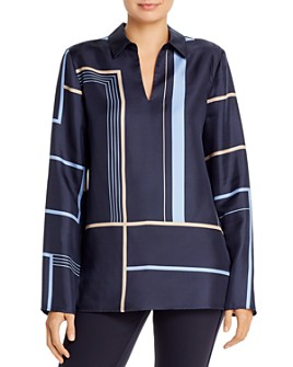 Lafayette 148 New York - Nellie Printed Silk Top